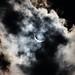 Solar Eclipse behind Clouds
