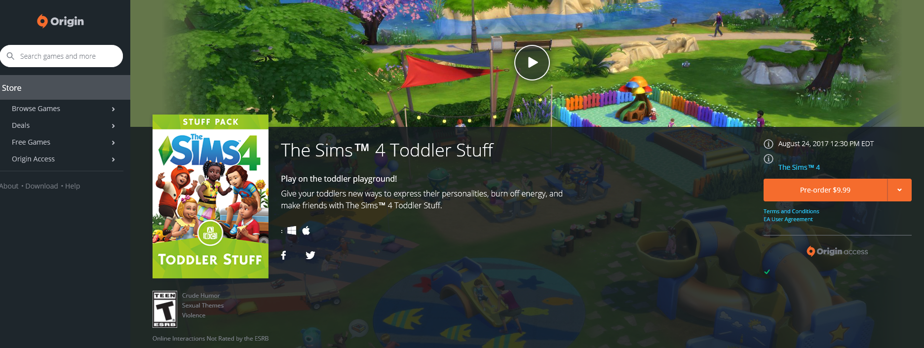 the sims 4 toddler stuff now available at origin simsvip