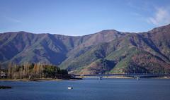 Mountain scenery with Lake Kawaguchiko