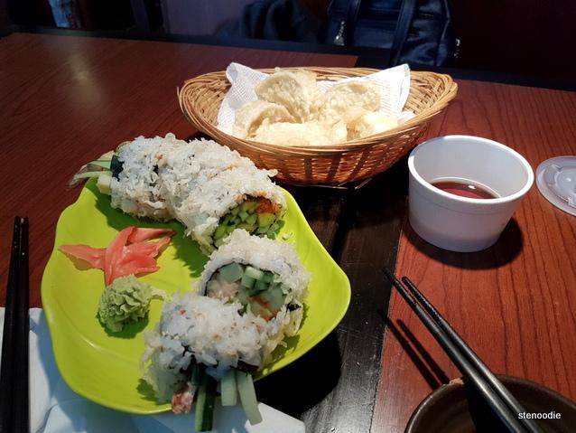 Sushi Bong food spread