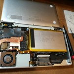 GPD Pocket Ubuntu版) 放熱シートで熱対策やってみた