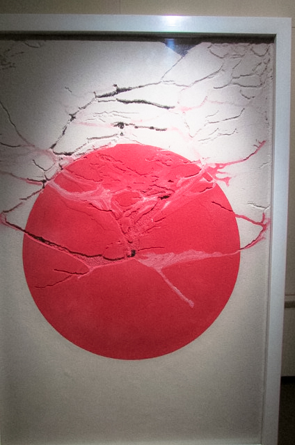 柳幸典《蟻と日の丸》(1995年) ヨコハマトリエンナーレ2017展示風景