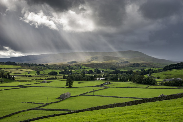 Sunbeams over Wensleydale