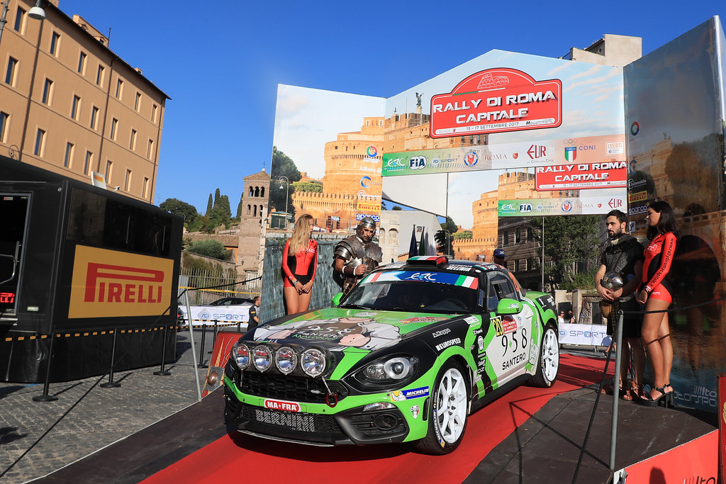 20 ANDOLFI Fabrizio Jr (ITA) ROMANO Patrizia (ITA) FIAT ABARTH 124 start during the 2017 European Rally Championship ERC Rally di Roma Capitale,  from september 15 to 17 , at Fiuggi, Italia - Photo Jorge Cunha / DPPI