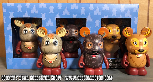 2013 Disney Vinylmation Park Series 12 Max, Buff & Melvin - Country Bear Collector Show #122