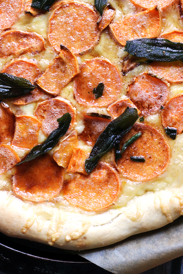 Sweet Potato, Brown Butter, and Fried Sage Pizza