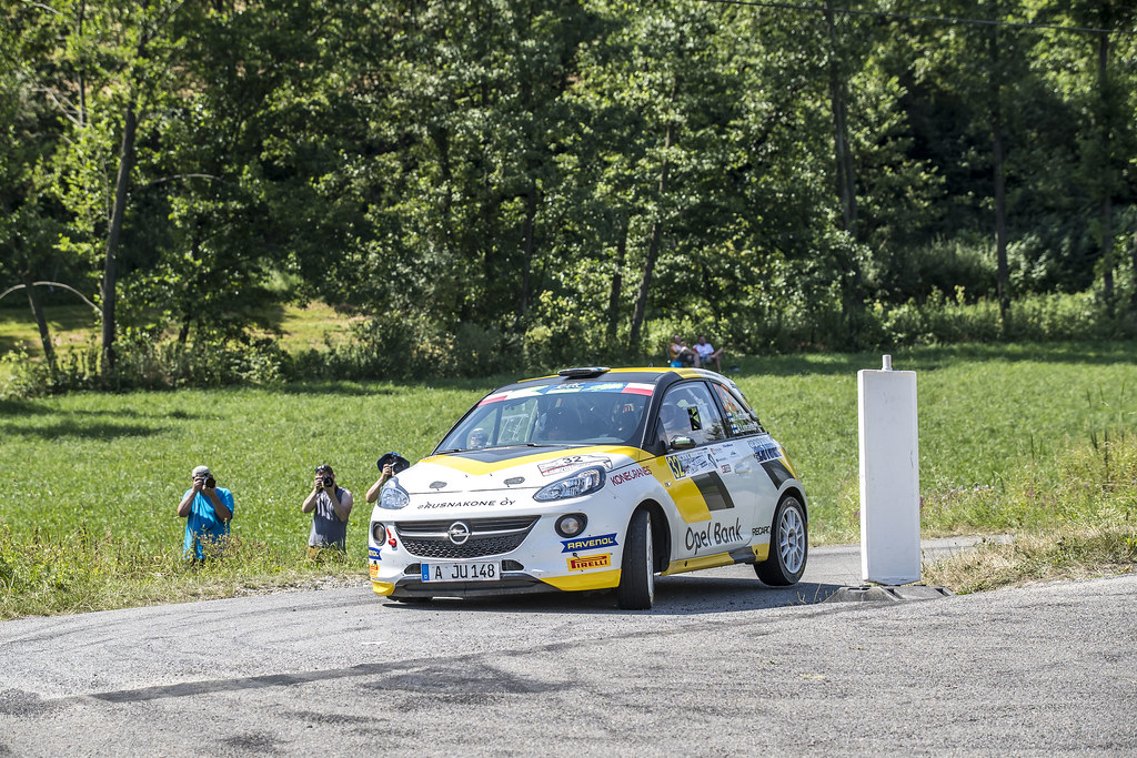 32 HUTTUNEN Jari (FIN) LINNAKETO Antti (FIN) Opel Adam R2 action during the 2017 European Rally Championship Rally Rzeszow in Poland from August 3 to 5 - Photo Gregory Lenormand / DPPI