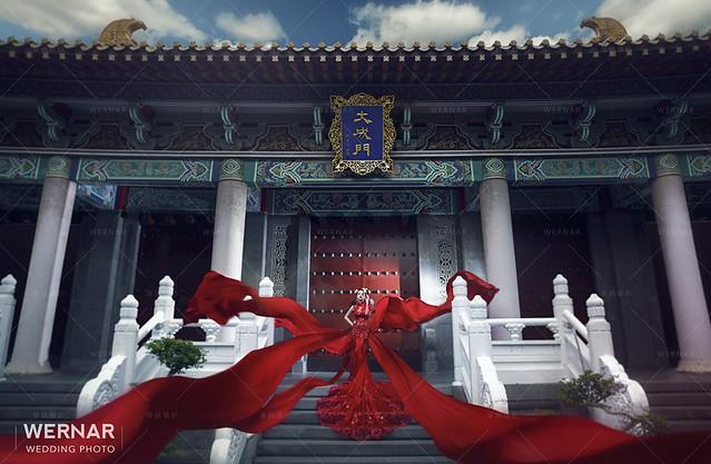 中國風,中式婚紗,華納婚紗,婚紗,婚紗照,中式新娘,拍婚紗,中式嫁衣