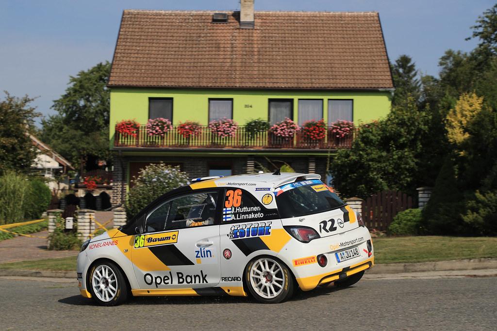 36 HUTTUNEN Jari (FIN) LINNAKETO Antti (FIN) Opel Adam R2 action during the 2017 European Rally Championship ERC Barum rally,  from August 25 to 27, at Zlin, Czech Republic - Photo Jorge Cunha / DPPI