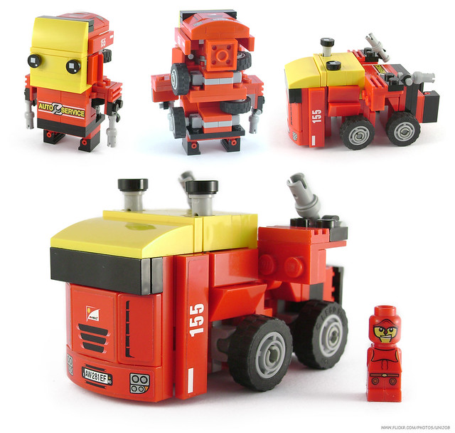 BrickMorphz Red Unit 155 [Battle Truck]
