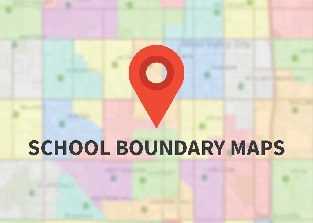 Boundary map graphic with map icon and text 'School Boundary Maps'