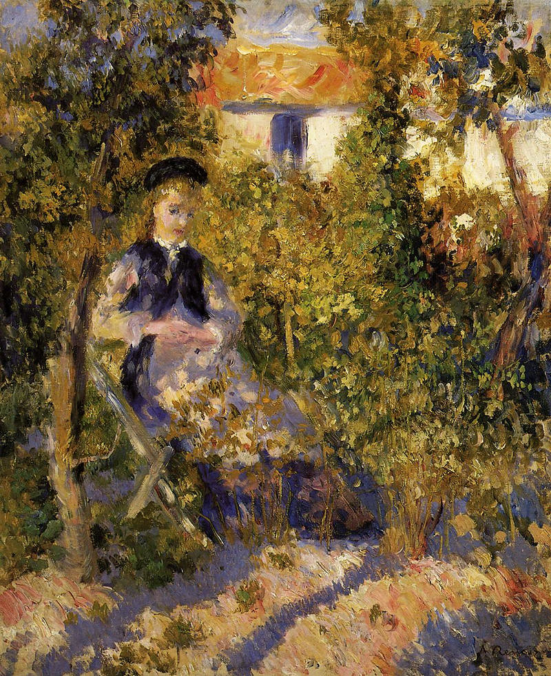 Nini in the Garden by Pierre Auguste Renoir, 1876