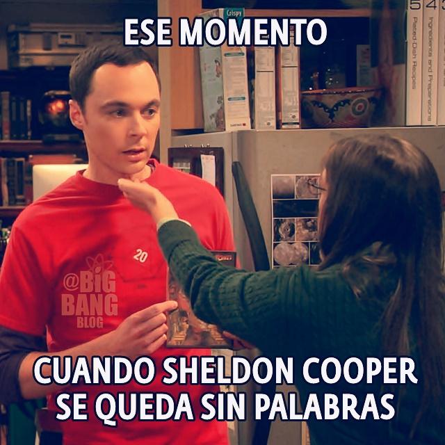 7x04 Sheldon sin palabras