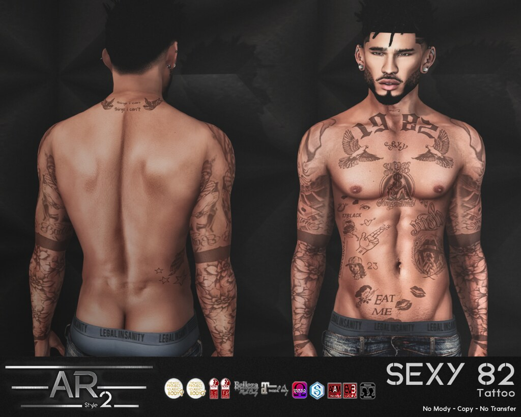 [AR2 Style] SEXY 82 Tattoo - SecondLifeHub.com