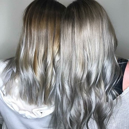 Loving these #Smokey tones by @smarie1206 #silver #cool #goldwellapprovedus
