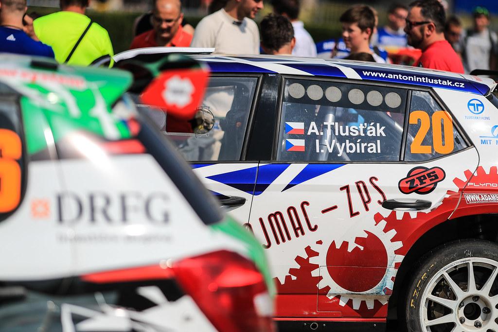 20 TLUSTAK Antonin (CZE) VYBIRAL Ivo (CZE)  Skoda Fabia R5 ambience during the 2017 European Rally Championship ERC Barum rally,  from August 25 to 27, at Zlin, Czech Republic - Photo Jorge Cunha / DPPI
