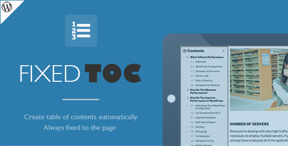 Fixed TOC v3.1.0 – table of contents for WordPress plugin