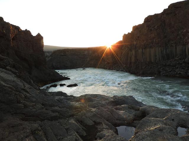 Sunset at Aldeyjarfoss, Iceland