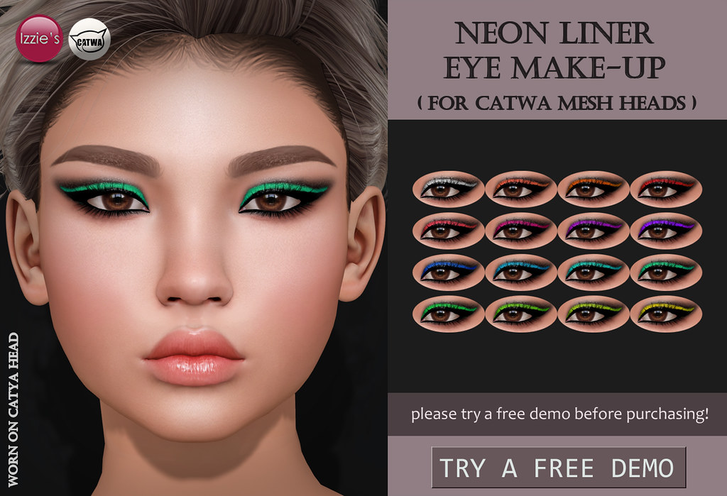 Neon Liner Eye Make-Up (Catwa) - SecondLifeHub.com