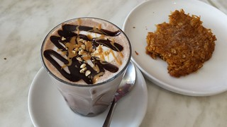 Snickers Hot Chocolate and ANZAC from Veganyumm