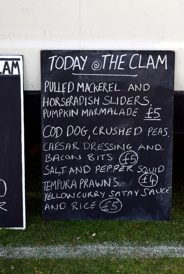The Clam Menu at Love Hythe Food Festival | www.rachelphipps.com @rachelphipps