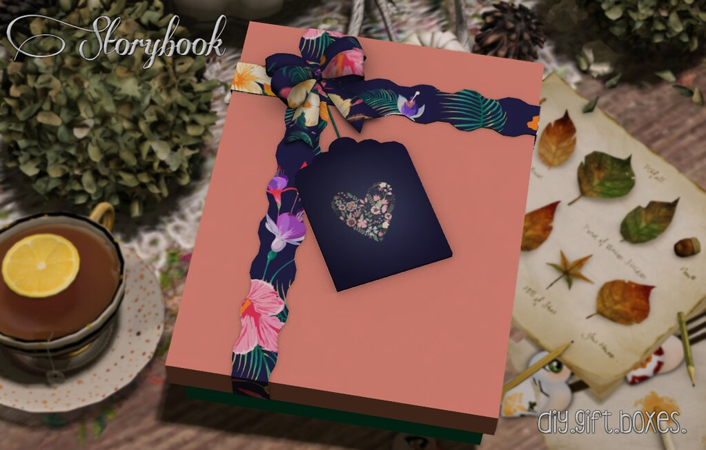 :Storybook: diy gift box [floral]