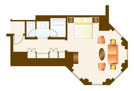 170915 東京ディズニーランドホテルタレットルーム見取り図