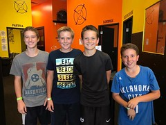 Jack and his buddies at Dart Warz