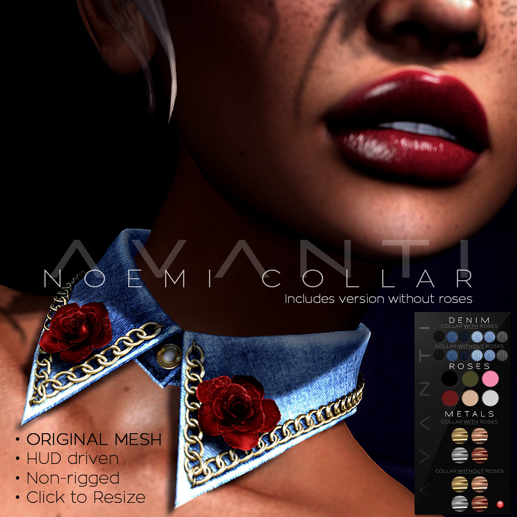 Avanti @ Cosmopolitan: Noemi Denim Collar - SecondLifeHub.com