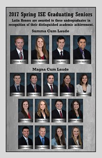 Contrtualtions to 2017 Spring ISE Latin Honors Receipients!