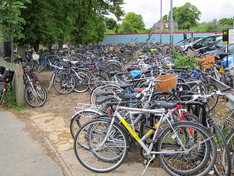 Bicycles outside Cambridge railway station, England. Credit Rept0n1x
