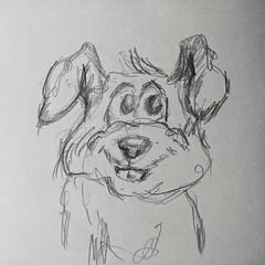 Smiling dog. #drawing