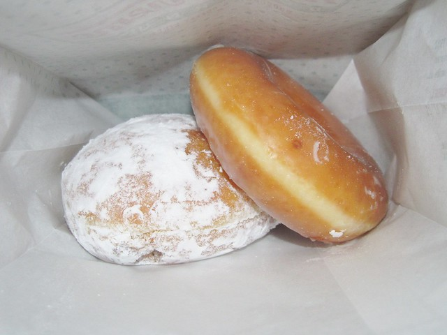 Krispy Kreme Powdered Cream & Glazed Doughnuts