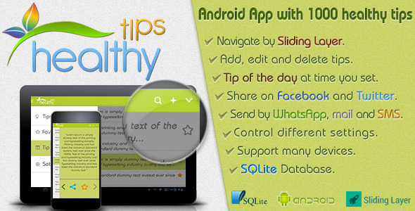 Healthy Tips v1.0 – Android Template