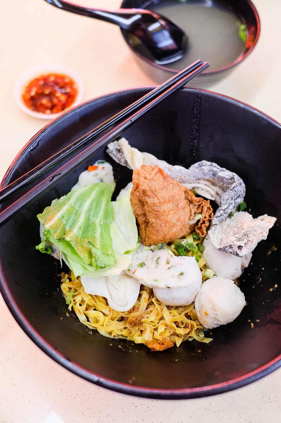 Yishun Park Hawker Centre: Fishball Story - Fishball Noodle