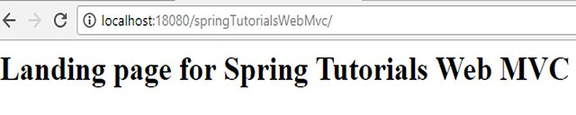 Spring MVC Application Index
