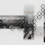 Sarah Fukami; Wakeme (Partition); Acrylic, screen printing, laser cutting, and decoupage on Plexiglas; 2016 -
