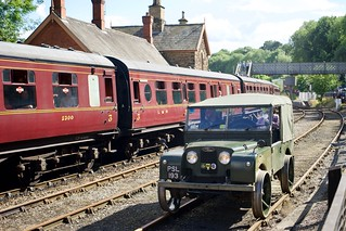 Land Rover on rails