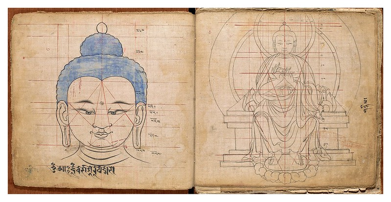 002-Tibetan pattern book of proportions- Getty Digital Collections