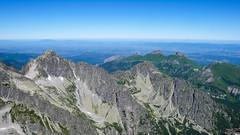 Widok z Kieżmarskiego Szczytu (2536m) -  Jagnięcy Szczyt, Tatry Bielskie.