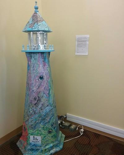 Kate Sharpley, Tales of the Sea LightHouse (2016) #pei #princeedwardisland #charlottetown #confederationcentrepubliclibrary #katesharpley #publicart #lighthouse