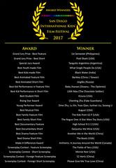 2017 SDIKFF - Award Winners