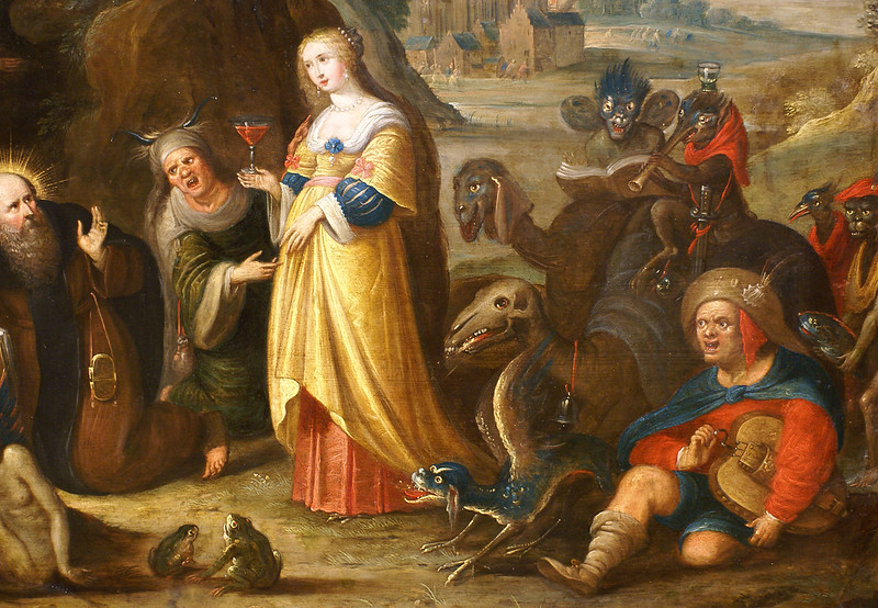 Frans Francken the Younger - Temptation of  Saint Anthony, detail, 1610:15