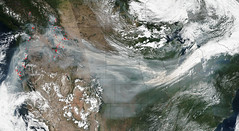 Wildfire Smoke Crosses U.S. On Jet Stream