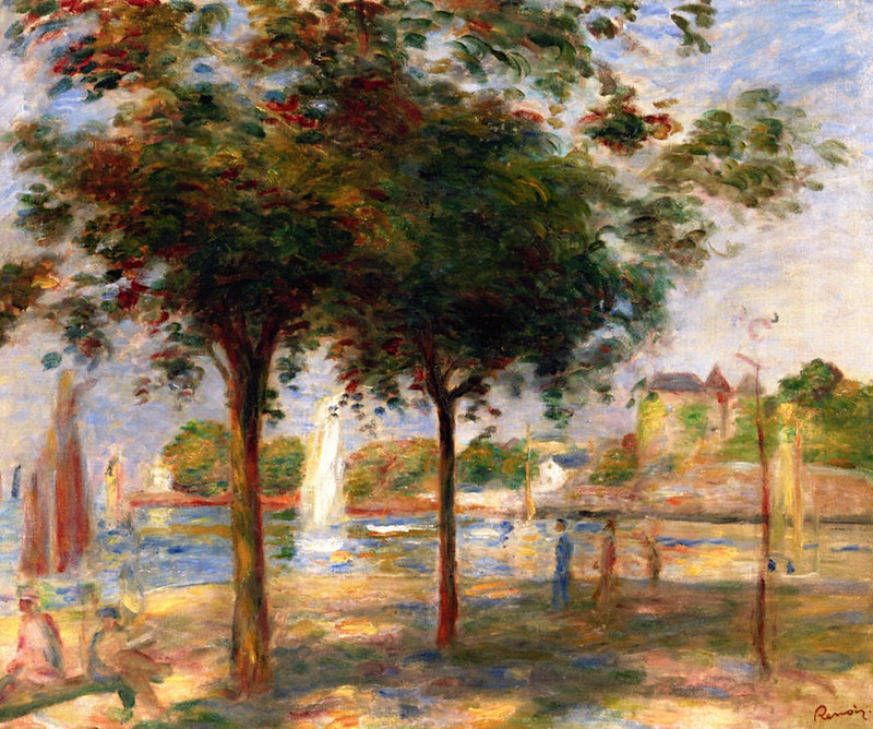 The Port of Pornic by Pierre Auguste Renoir, 1890