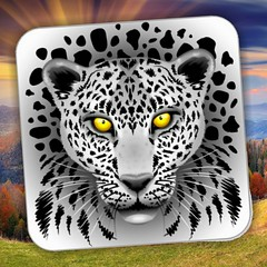 SOLD! #White #Leopard with #Yellow #Eyes Square #StickerS :tiger:  Designed by #Bluedarkart ☞ https://www.zazzle.com/white_leopard_with_yellow_eyes_square_stickers-217258106152831194 :star2: @Zazzle :star2:  #stickers #coolstickers #Stationery #gadgets #s