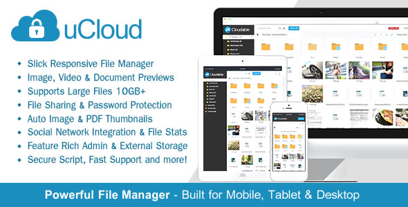 uCloud v1.4.1 – File Hosting Script – Securely Manage, Preview & Share Your Files