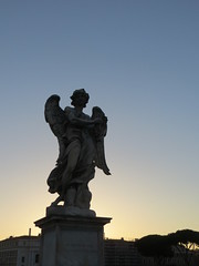 Angel with the Crown of Thorns at Dusk