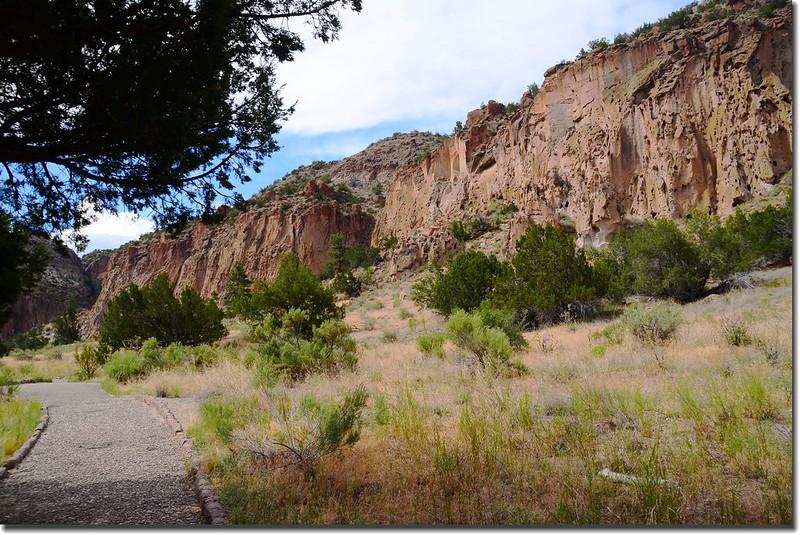 Historic Pueblo dwellings in Bandelier National Monument 1