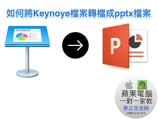 如何將Keynote檔案轉檔成pptx檔案00